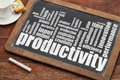 Productivity word cloud — Stock Photo