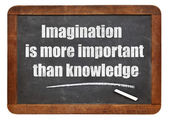 Imagination and knowledge quote — Stock Photo