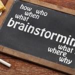 Brainstorming concept on blackboard — Stock Photo #48424151