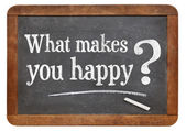 What makes you happy — 图库照片