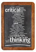 Critical thinking word cloud — Stock Photo
