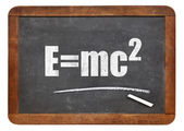 Einstein equation on blackboard — Stock Photo