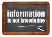 Information is not knowledge quote — Stock Photo