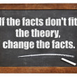 If the facts do not fit the theory — Stock Photo #48704705
