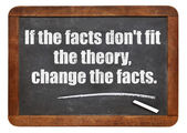 If the facts do not fit the theory — Stock Photo