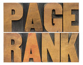 Page rank word abstract — Stock Photo