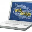 Web design word cloud — Stock Photo #49024655