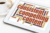 Consistent, compelling content  — Stock Photo
