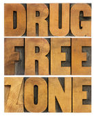 Drug free zone in wood type — Stock Photo