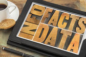Information, data, facts om tablet — Stock Photo