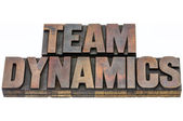 Team dynamics in wood type — Stock Photo