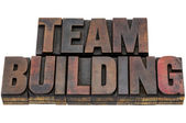 Team building in wood type — Stock Photo