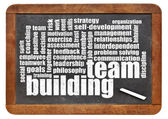 Team building word cloud — Stock Photo