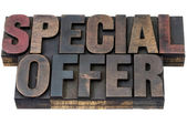 Special offer in wood type — Stock Photo