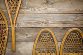 Wooden snowshoes abstract — Stock Photo