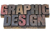 Graphic design in grunge wood type — Stock Photo
