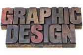 Graphic design in grunge wood type — Stock Photo