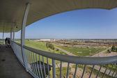 Bailey rail yard in fisheye perspective — Stock Photo