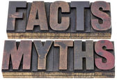 Facts and myths in wood type — Stock Photo