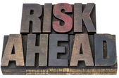Risk ahead in woo dtype — Stock Photo