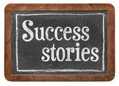Success stories on blackboard — Stock Photo
