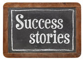 Success stories on blackboard — Stock Photo