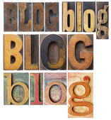 Blog word collage — Stock Photo