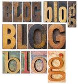 Collage di parola Blog — Foto Stock
