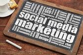 Social media marketing — Stock Photo