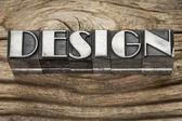 Design-wort im bleisatz — Stockfoto