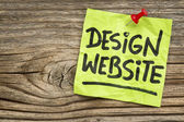 Design website note — Stock Photo