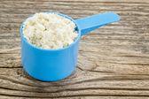 Whey protein powder — Stock Photo