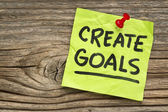 Create goals reminder — Stock Photo