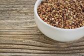 Buckwheat grain kasha — Stock Photo