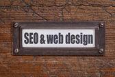 SEO and web design — Foto Stock