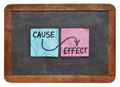 Cause and effect concept — Stock Photo