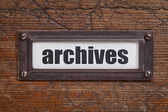 Archives  tag - file cabinet label — Stock Photo