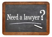 Need a lawyer  question — Foto Stock