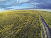 Colorado prairie in sunset light — Stock Photo