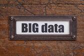 Big data  tag - file cabinet label — Stock Photo