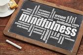Mindfulness word cloud — Stock Photo