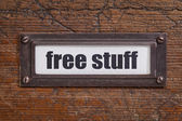 Free stuff  - file cabinet label — Stock Photo