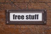 Free stuff  - file cabinet label — Stock Photo