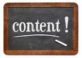 Content reminder on blackboard — Stock Photo