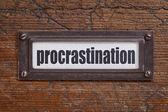 Procrastination label — Stock Photo