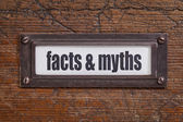 Facts and myths — Stock Photo