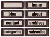 Blog and websiite word set — Stock Photo