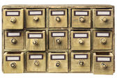 Primitive drawer cabinet — Stock Photo