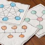 Computer network schematics — Stock Photo #5111956