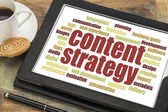 Content strategy word cloud — Stock Photo